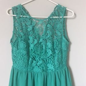 Turquoise Lacey Dress